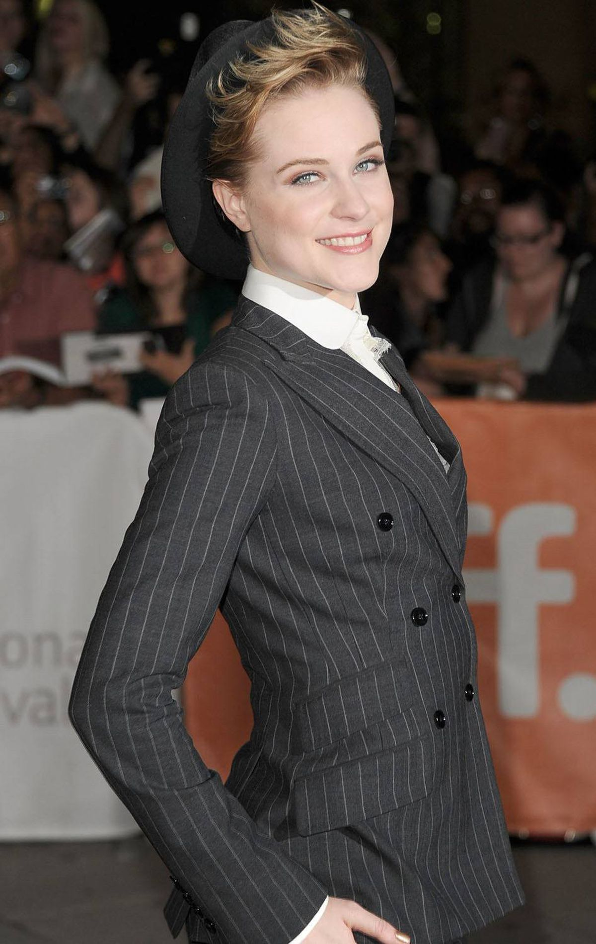 "Actress Evan Rachel Wood arrives at ""Ides Of March"" Premiere at Roy Thomson Hall during the 2011 Toronto International Film Festival on September 9, 2011 in Toronto, Canada."