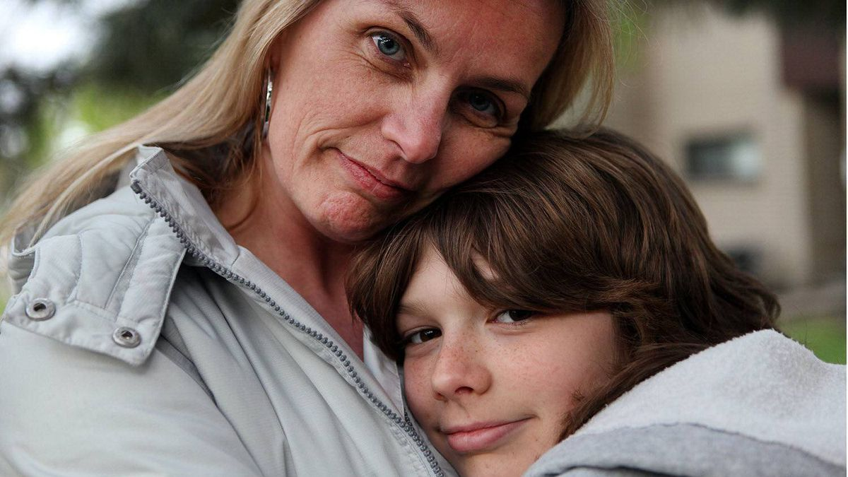 Cheryl Marsh hugs her son Colin Stainton, 11 near their home in Toronto on April 24, 2012. Marsh and her son Colin took part in a program called the Coping Power Program, that helped Cheryl and Colin deal with Colin's anger. On Wednesday, CAMH will announce a $10 million donation from Margaret McCain for mental health programs for children and youth, that will be used, among other things, to hire more staff, create programs and start an inpatient unit for youth with both mental health and addictions.