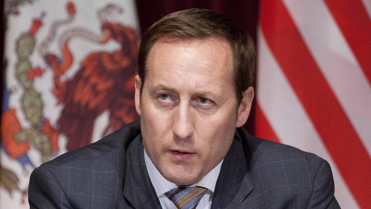Canadian Minister of National Defence Peter MacKay responds to a question during a news conference following meetings with his American and Mexican counterparts in Ottawa, Tuesday March 27, 2012.