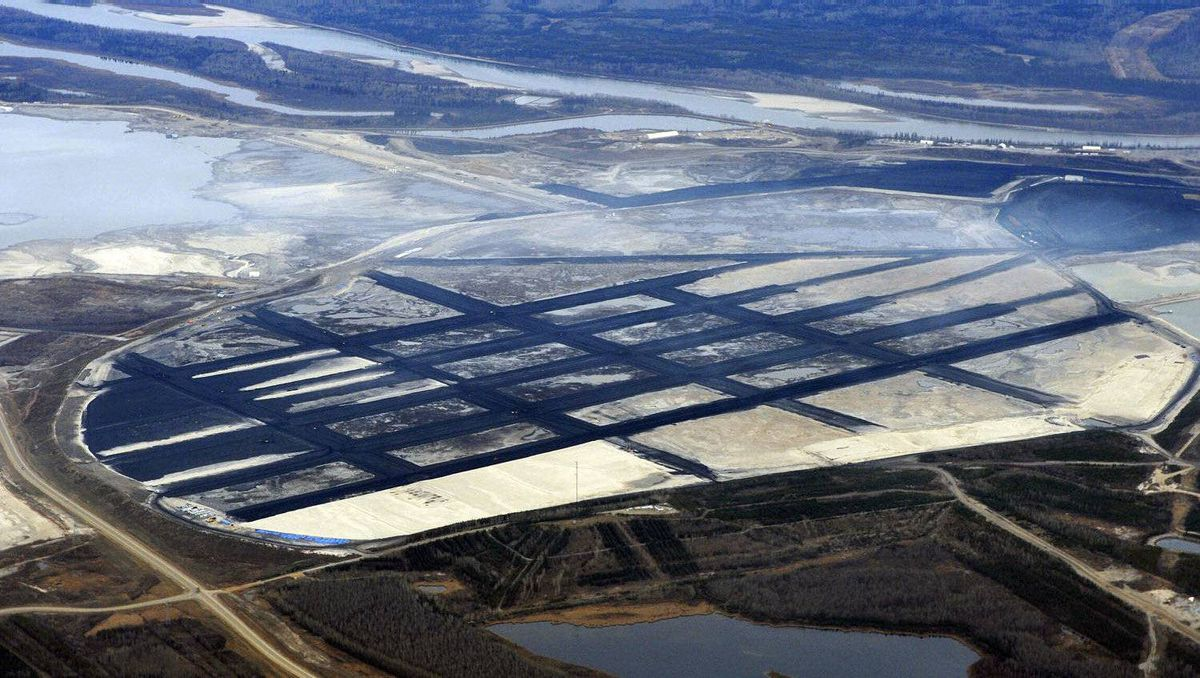The Suncor tar sands mining operation north of Fort McMurray, Alberta, November 3, 2011. Suncor is one of the largest oil sands producers in Alberta.
