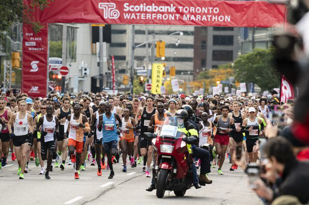 Tears of joy and sorrow fall, Olympic dreams soar, records are set and an astronaut runs at the Toronto Marathon