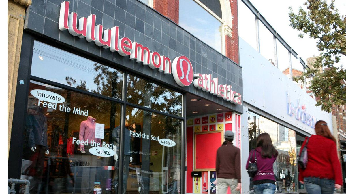 The Lululemon name was chosen in a survey of 100 people. The company's distinctive logo is a stylized A, a leftover from one of the rejected names. Some people think it looks like a woman's flip hairstyle.