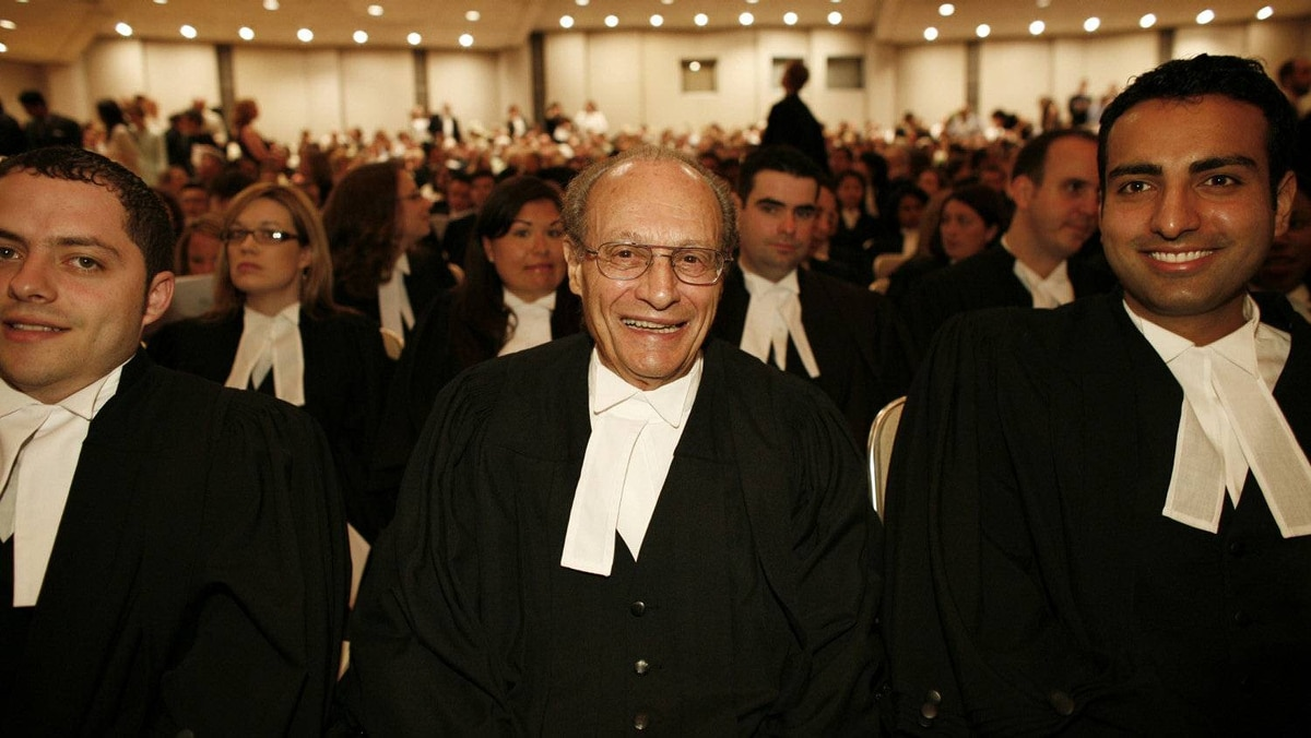 (centre) Joseph Camille Gerald Van Buskirk, 82 years old, awaits to become a lawyer today as part of The Law Society of Upper Canada Call to the Bar Ceremony. A handful of lawyers are calling for an end to the body's archaic name. Instead, they say, it should be known as the Ontario Law Society.