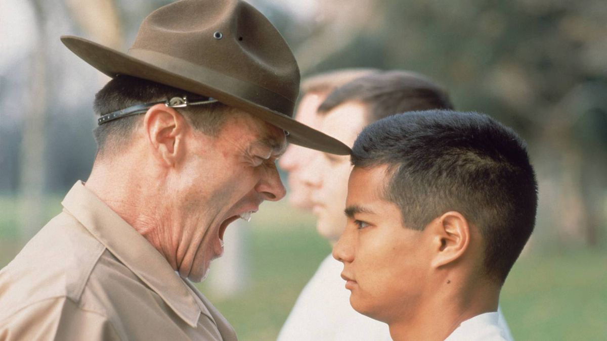 A drill instructor at work