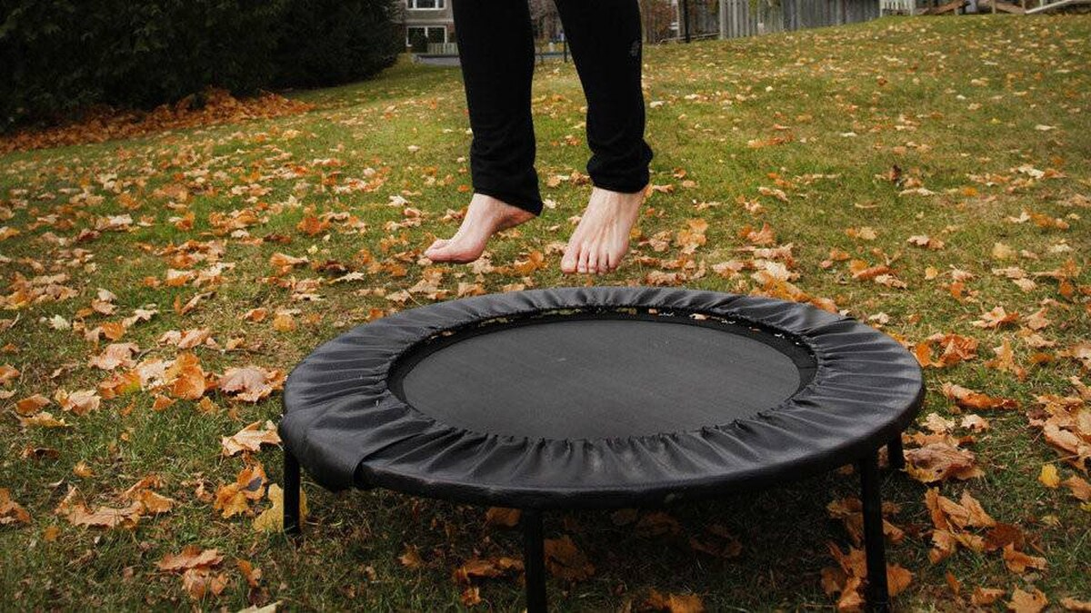 A rebounder is essentially a mini-trampoline.