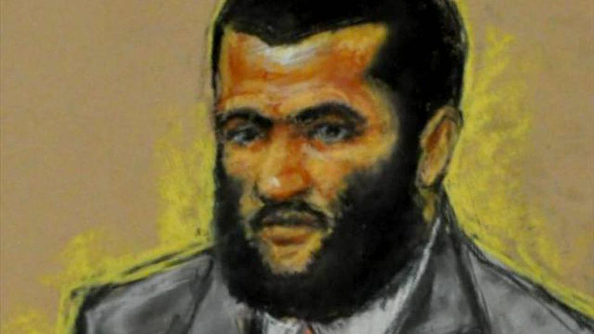 Omar Khadr ditched his usual white prison garb Wednesday and donned a shirt and tie for the jury selection in his trial. His lawyer says the courtroom appeared shocked at the transformation.