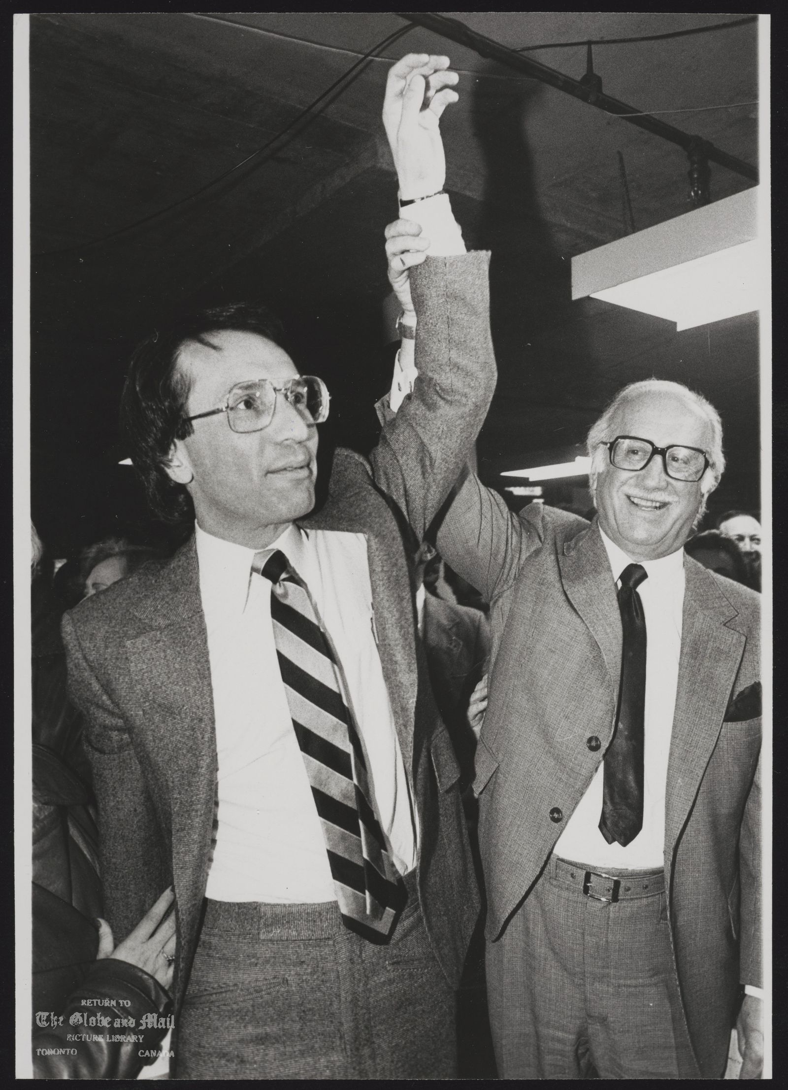 Larry GROSSMAN Toronto. Politician With father Allan.