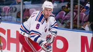 Pat Flatley playing for the New York Rangers in 1996. He now works with a Ryerson program for transitioning hockey players.