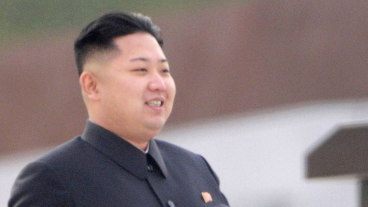 Kim Jong-un, current leader of North Korea, smiles as he attends the unveiling ceremony of bronze statues of North Korea founder Kim Il-sung and late leader Kim Jong-il in Pyongyang