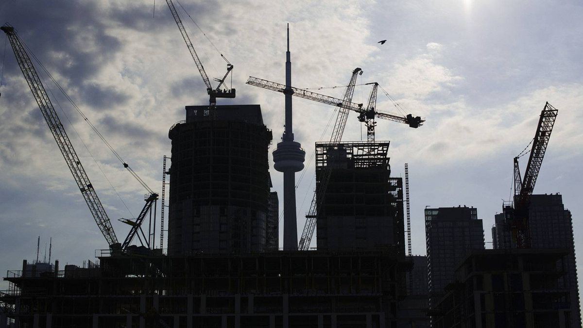Condominiums are seen under construction in Toronto, July 10, 2011. 2011.