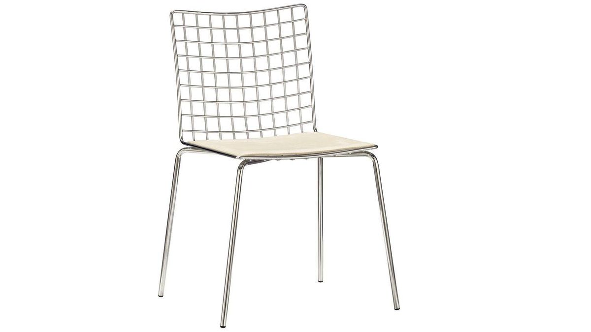 CB2?s soon-to-be discontinued Encore Chair features chrome-plated steel tubing and a cushy faux-suede pad at an irresistible price. Get one or more while you can. $159 through www.cb2.com.