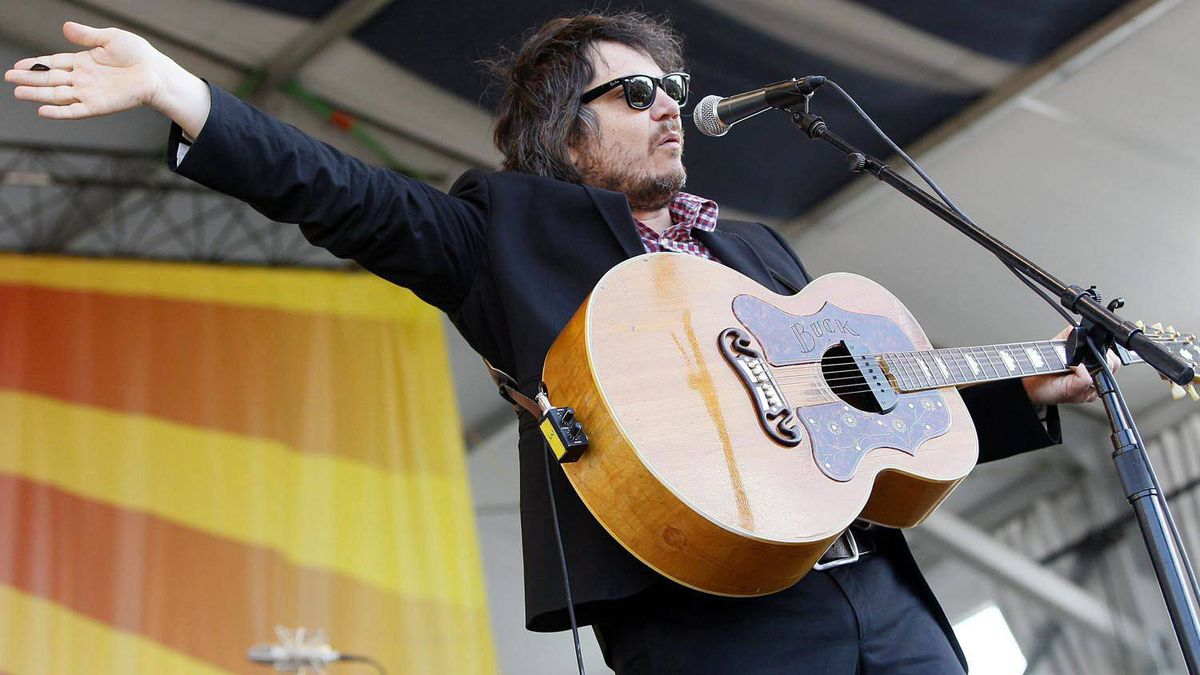 Wilco lead singer Jeff Tweedy performs at the New Orleans Jazz and Heritage Festival in New Orleans, May 5, 2011.