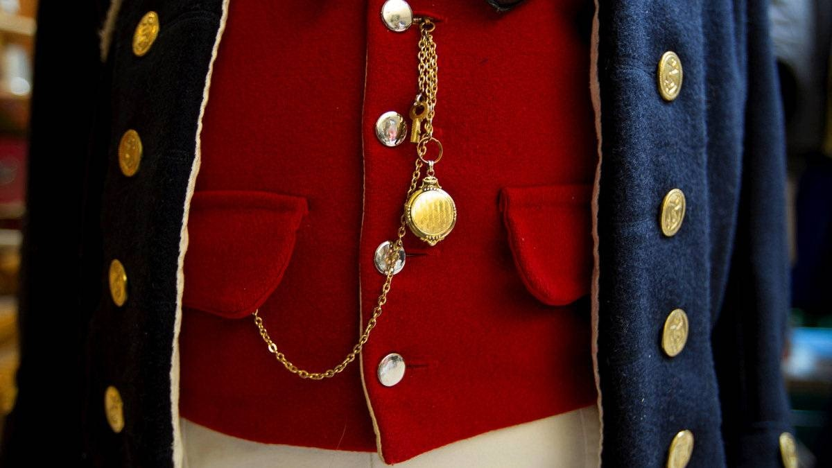 A uniform from the period.