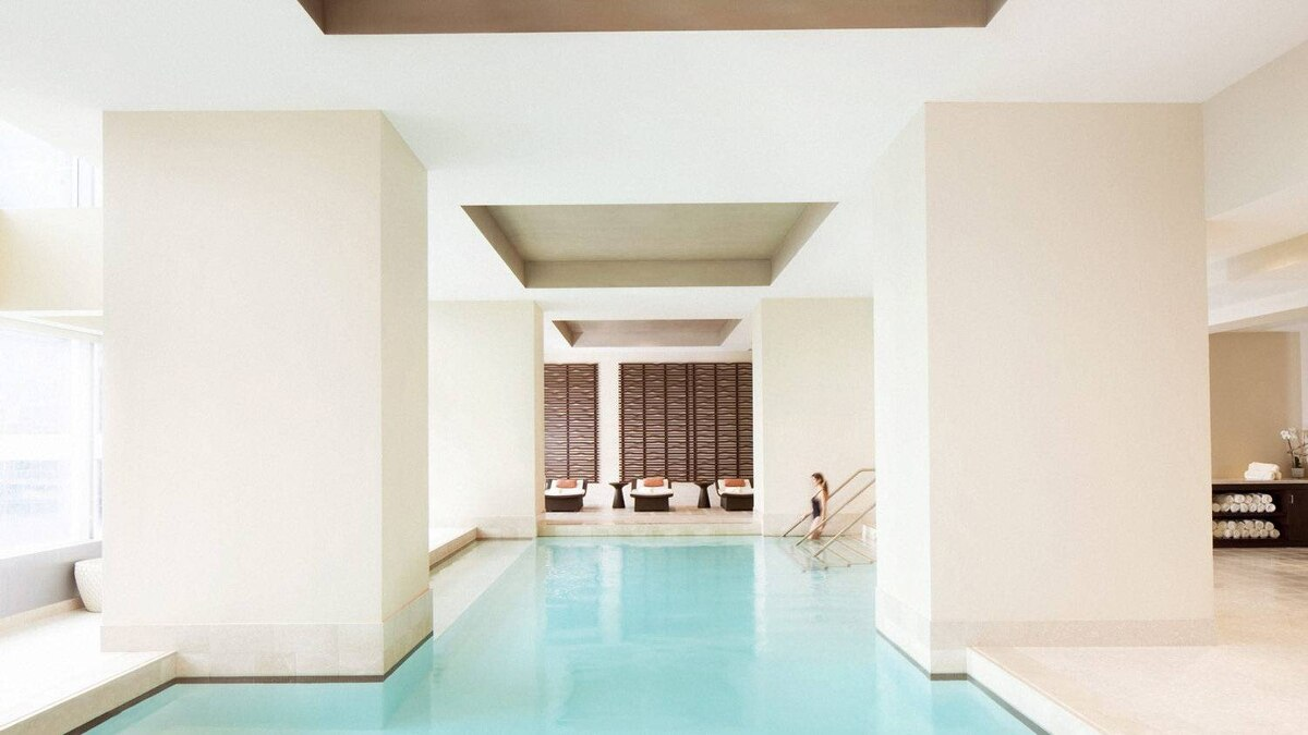 The steam, sauna and vitality pool area is a dream at The Spa at the Ritz Carlton Toronto.