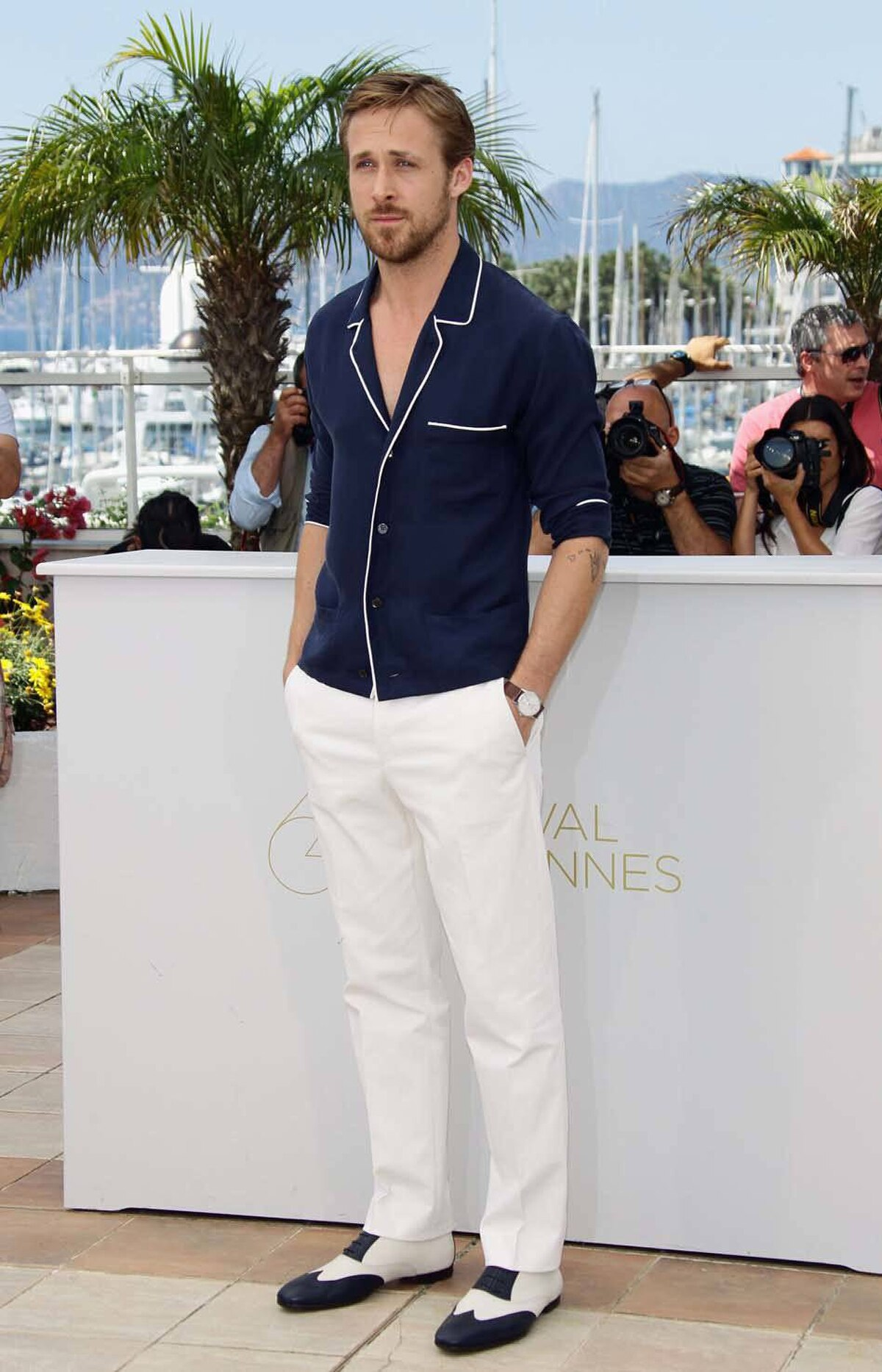 "Canadian actor Ryan Gosling attends the ""Drive"" photo call at the Cannes Film Festival on Friday."