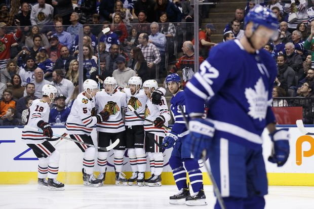Maple Leafs head into all-star break on a wave of boos, jeers and ridicule after thumping by Blackhawks
