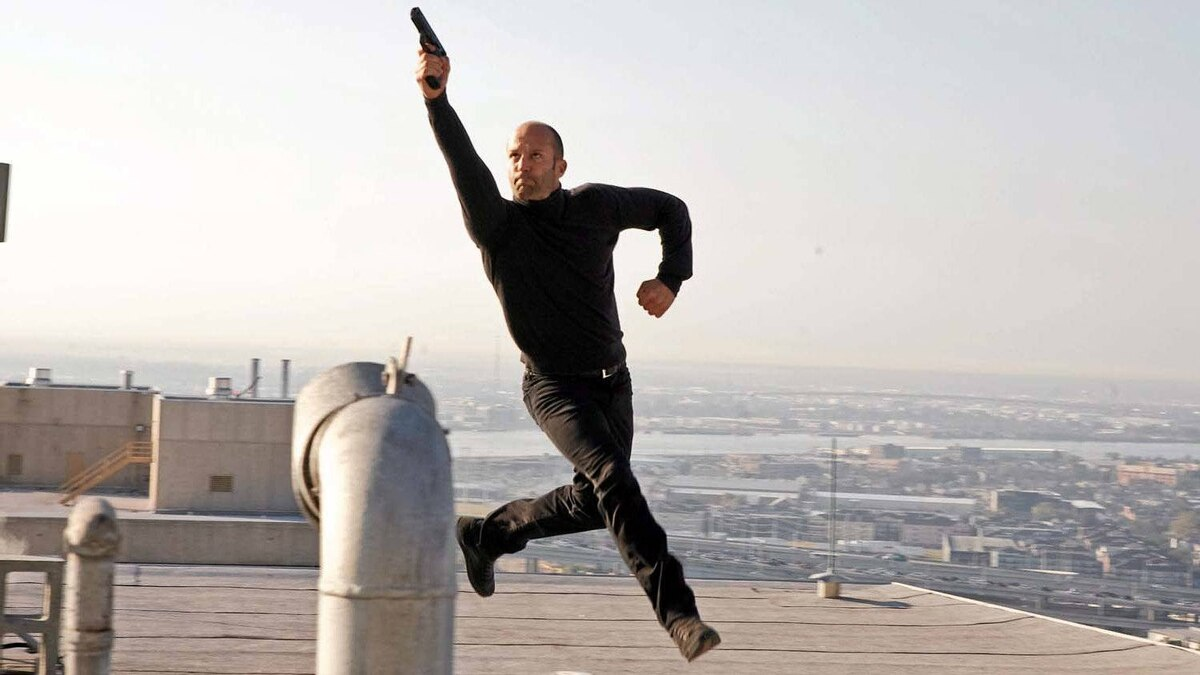 """Jason Statham in a balletic scene from """"The Mechanic"""""""