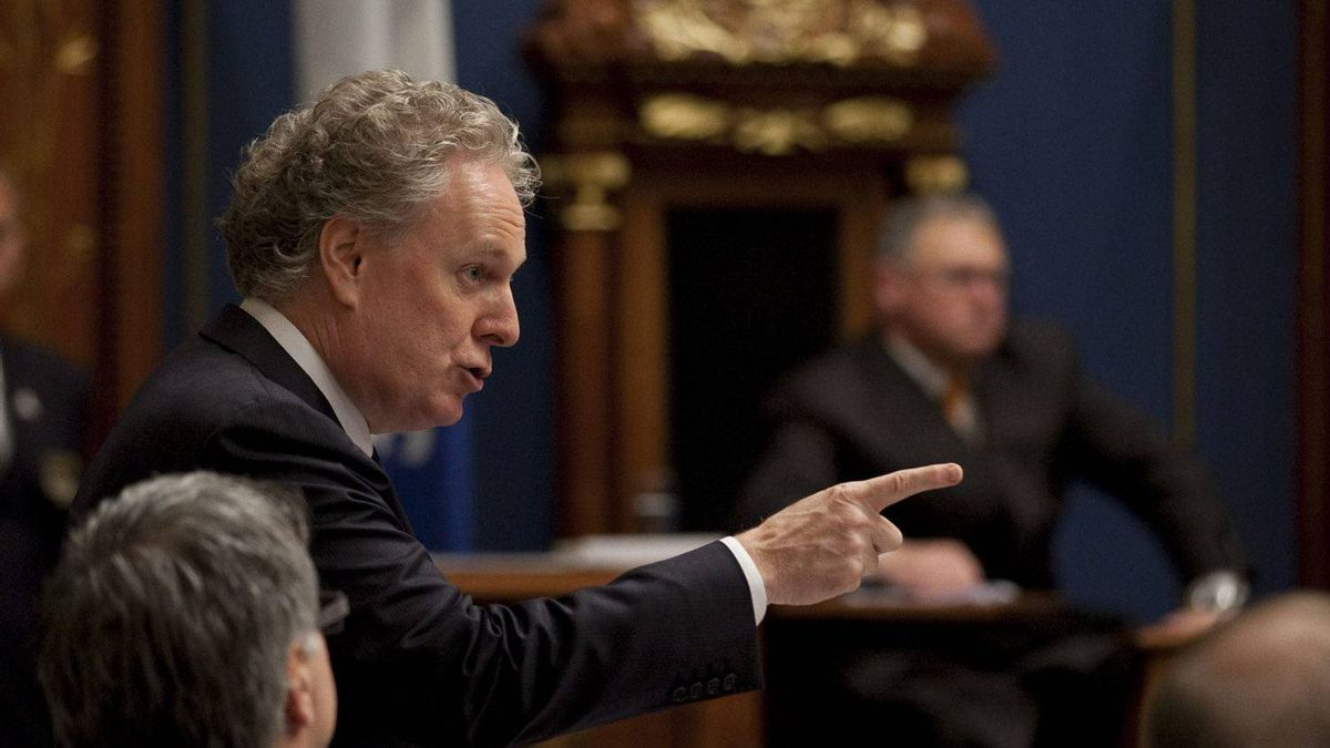 Quebec Premier Jean Charest responds to Opposition questions over a possible inquiry in the construction industry Tuesday, October 18, 2011 at the legislature in Quebec City.