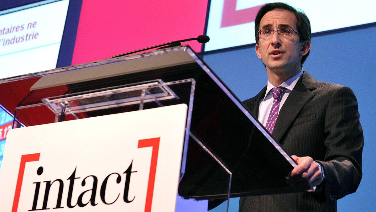 Intact Financial Corporation President and Chief Executive Officer Charles Brindamour speaks during the annual general meeting of shareholders in Toronto May 4, 2011.