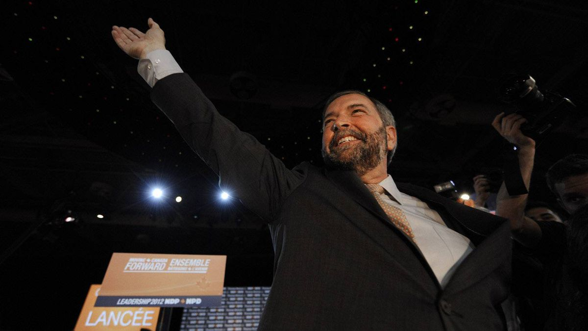 NDP leadership candidate Thomas Mulcair during the NDP leadership convention on March 23 2012.