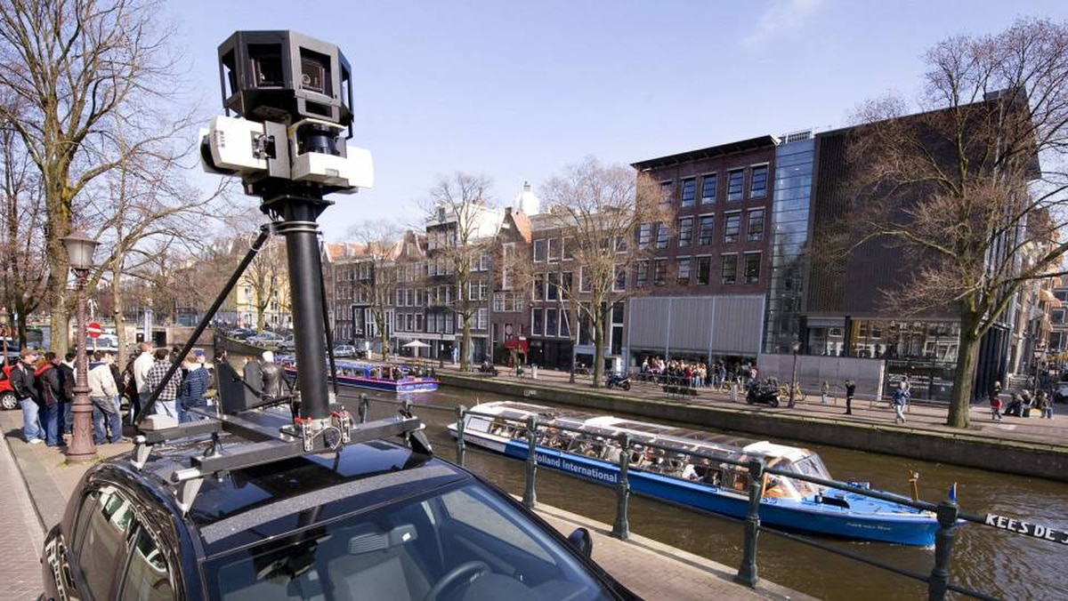 A Google Street View camera in Amsterdam