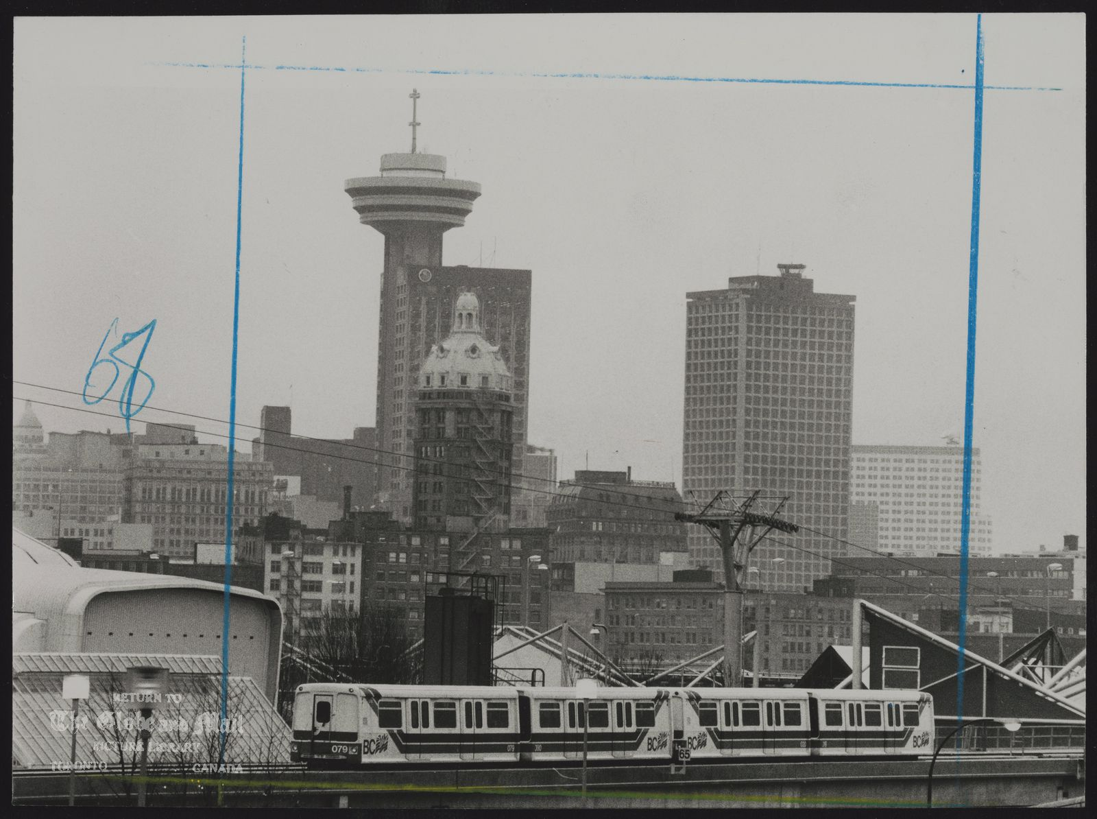 The notes transcribed from the back of this photograph are as follows: VANCOUVER city