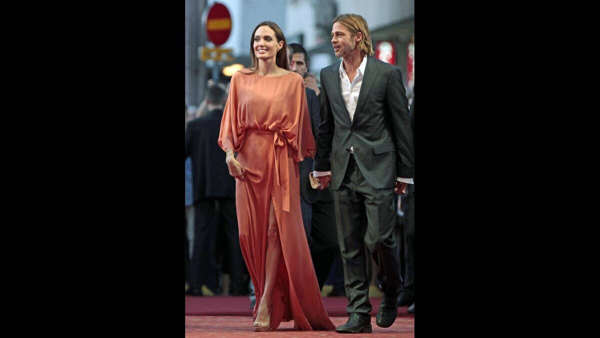 Angelina Jolie and Brad Pitt at the Sarajevo Film Festival, July 30, 2011.