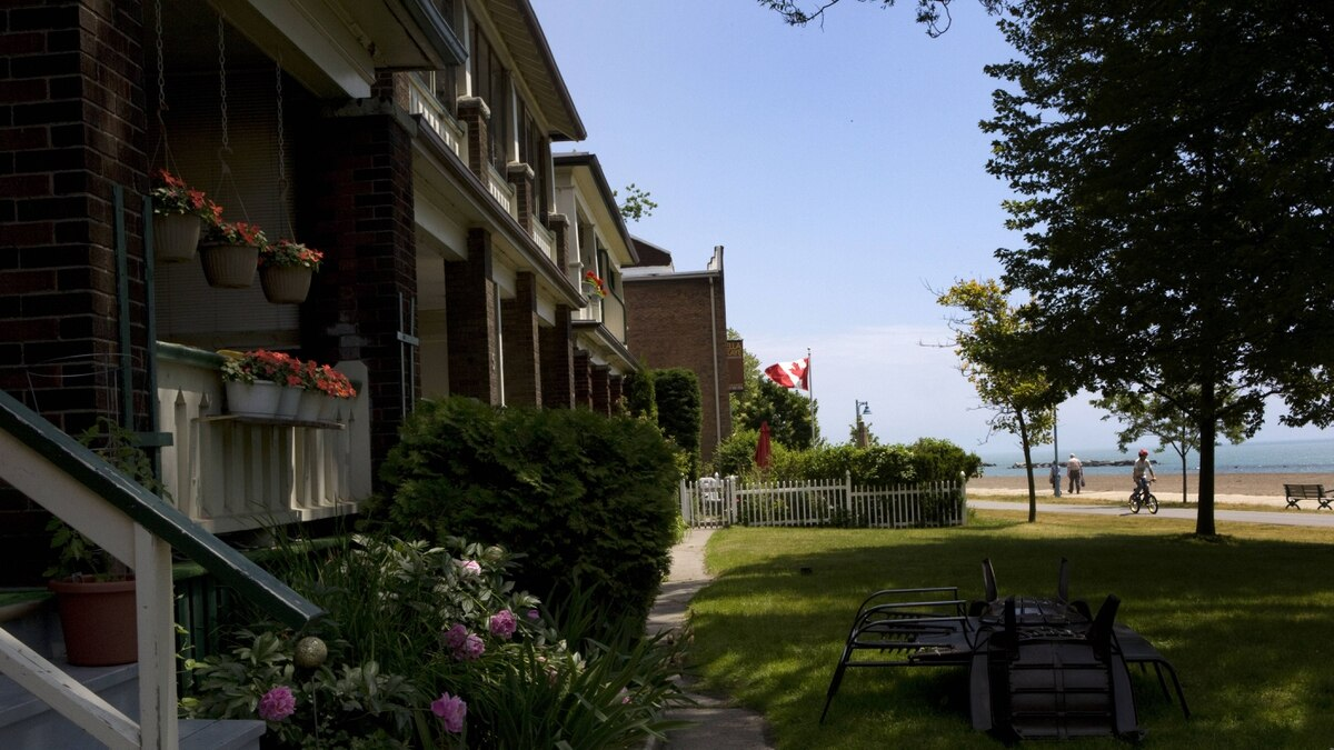 The semi-detached house at 3 Hubbard Boulevard, sits right off the shore of Lake Ontario and was valued at $970,000, in Toronto's The Beach neighbourhood on June 23, 2011. This is one of Toronto Community Housing Corporation's social houses up for sale by the city.