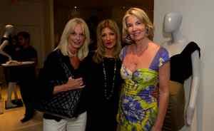 Margaret Muir (left), Lidie Benitah and Hilary Weston