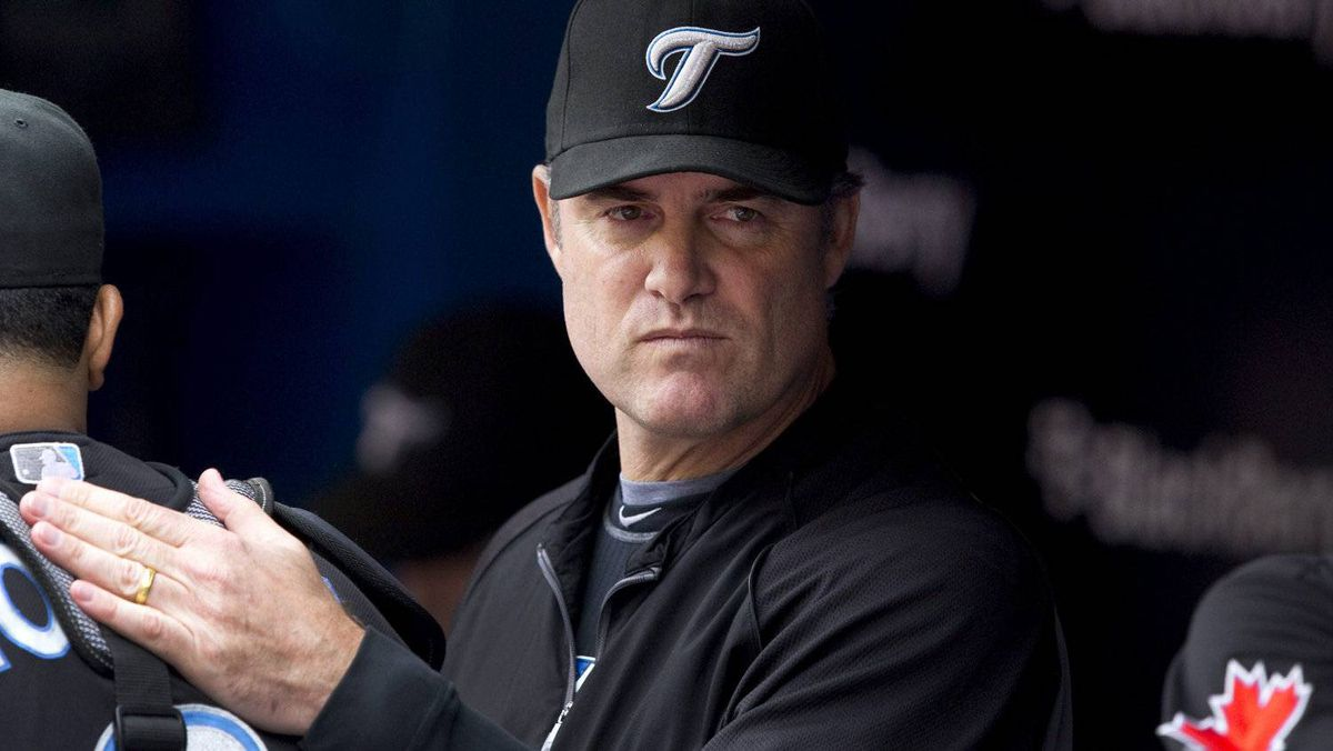 Toronto Blue Jays manager John Farrell in the dugout prior to MLB baseball action against the Boston Red Sox in Toronto Monday, September 5, 2011. Farrell returned to the team for the first time since being diagnosed with pneumonia. THE CANADIAN PRESS/Darren Calabrese