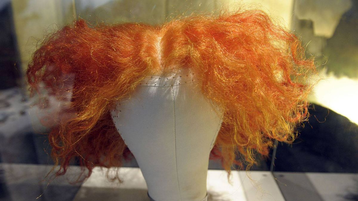 The wig Johnny Deppe wore in the role of the Mad Hatter in Tim Burton's Alice in Wonderland