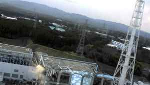 This handout image released from Tokyo Electric Power Co (TEPCO) on March 17, 2011 and received via JIJI Press on March 18, 2011 shows the damage (bottom L) to TEPCO's No.1 Fukushima nuclear power plant's fourth reactor building in the town of Okuma, Fubata district in Fukushima prefecture.