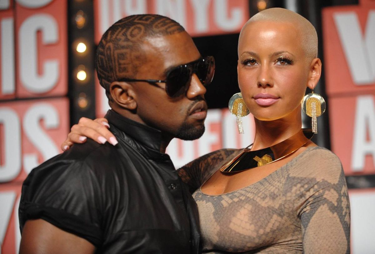 Kanye West's girlfriend, model Amber Rose, is one of several high-profile females with shaved heads.