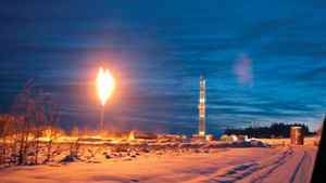 A flare in the Montney shale gas formation of British Columbia
