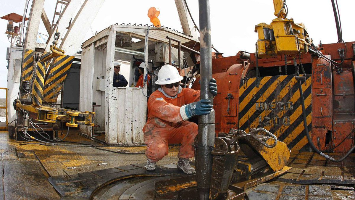 A Repsol exploration rig in the Argentinian province of Neuquen
