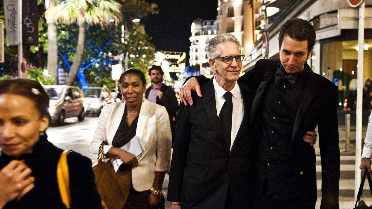 David and Brandon Cronenberg walk back to the hotel the night of Brandon's screening of his film, Antiviral. Exhausted and happy.