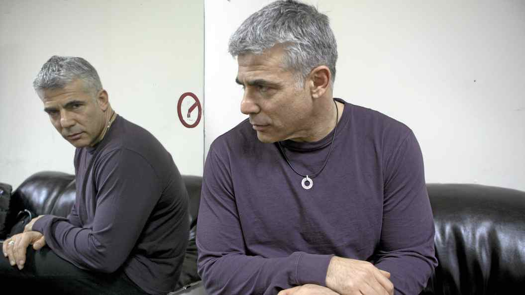 """Israeli broadcaster , columnist, TV anchor Yair Lapid who is now officially a politician before a performance billed as """"An evening of music, song and anecdotes"""" at the Ness Ziona Cultural Center, southeast of Tel Aviv."""