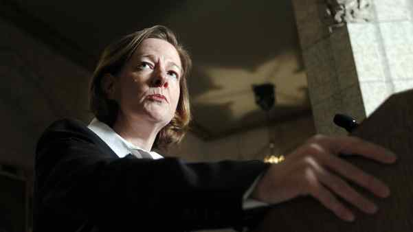 Alberta's Premier Alison Redford takes part in a news conference on Parliament Hill in Ottawa November 17, 2011.