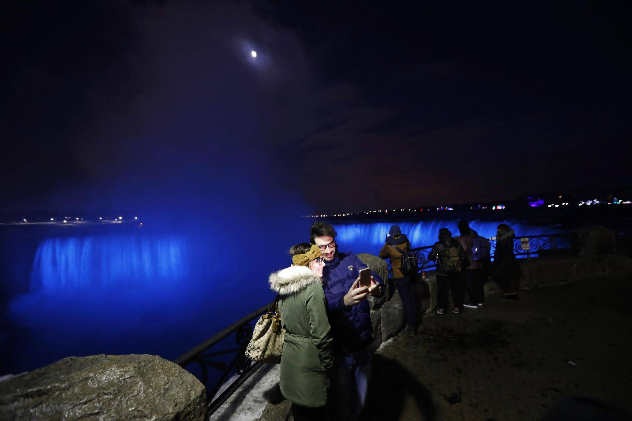 Niagara Falls Seen In An All New Light The Globe And Mail Blue Were Existing Standard Lights Wiring Red