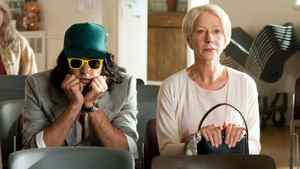 """Why so glum? Russell Brand and Helen Mirren star in the 1.5-star-rated remake of """"Arthur."""""""