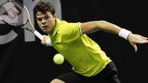 SAP Open winner Milos Raonic hopes to climb to within the top ten in the world tennis rankings this year. (AP Photo/George Nikitin)