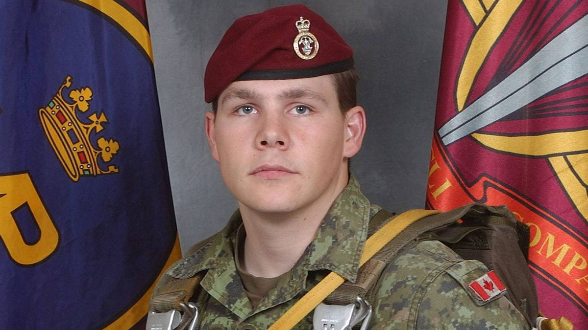 Master Corporal Byron Greff from the 3rd Battalion Princess Patricia's Canadian Light Infantry, based in Edmonton, Alberta, is shown this undated handout photo.