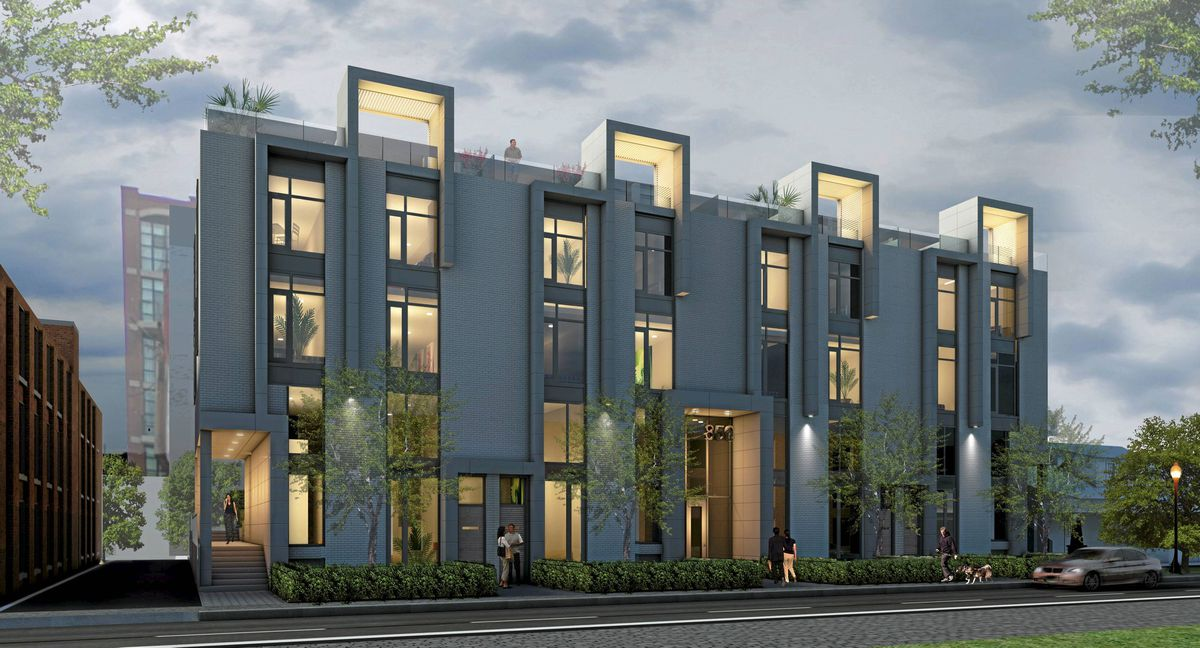 Rendering of a condo/townhouse project set to be constructed at 850 Richmond Street