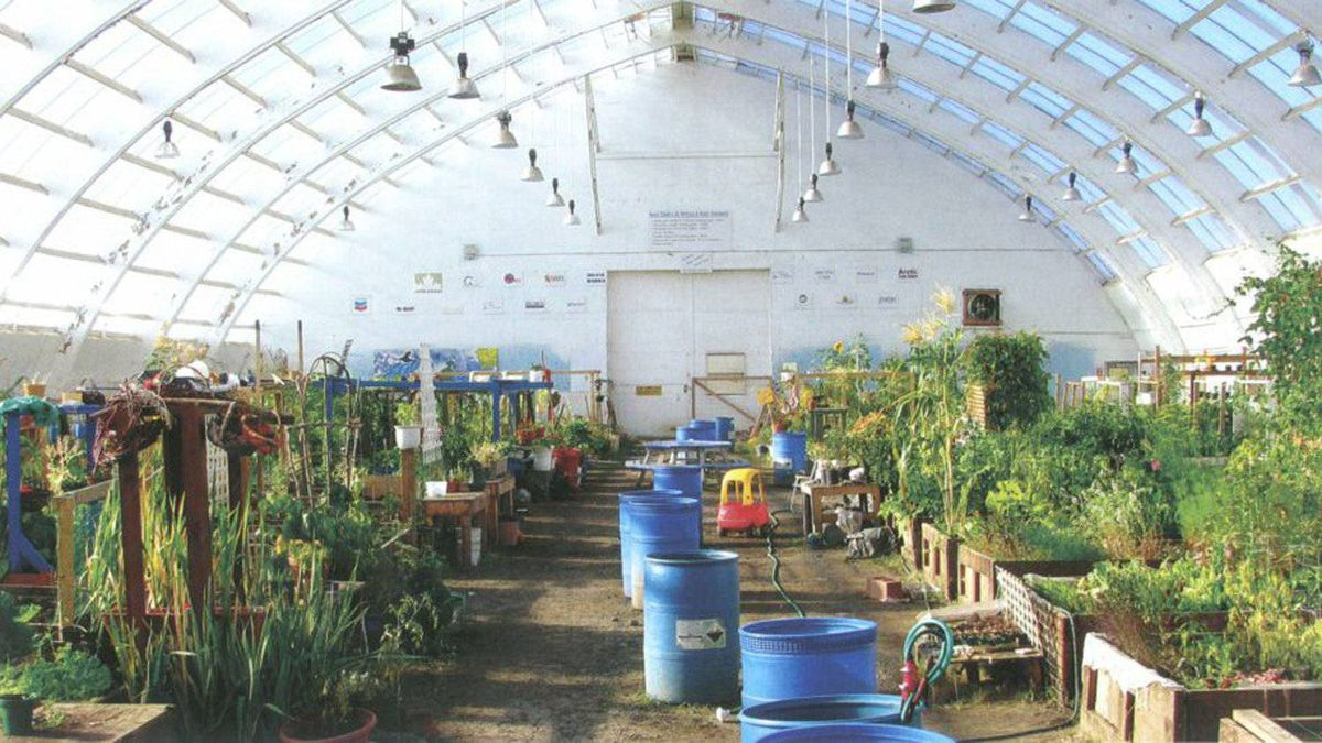 Inuvik Community Greenhouse, Inuvik, NWT.