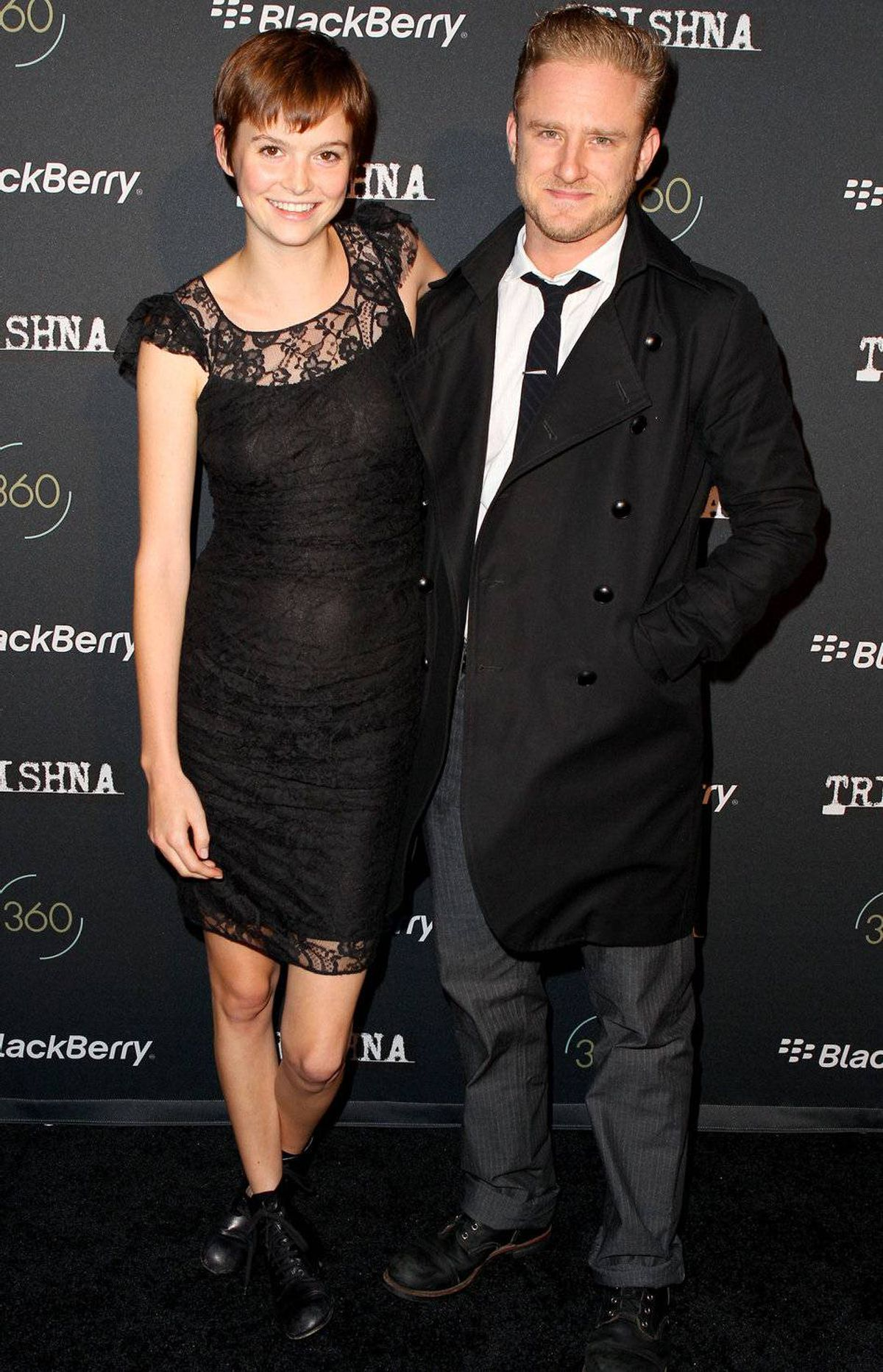 Actor Ben Foster and guest at the BlackBerry Inside Film Lounge at Brassaii on September 9, 2011 in Toronto, Canada.