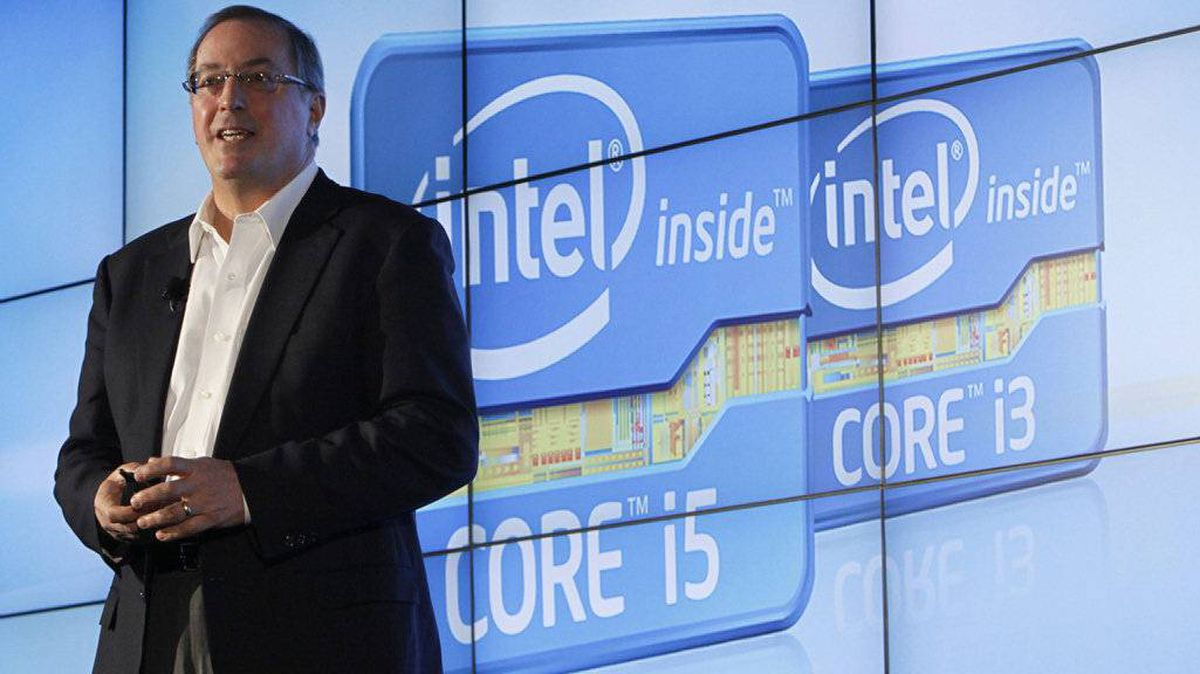 Intel CEO Paul Otellini talks during the company's unveiling of its second generation Intel Core processor family during a news conference at the Consumer Electronics Show (CES) in Las Vegas January 5, 2011.