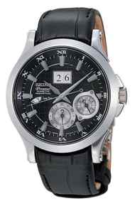 Time can stand still Classically good looks are just one feature of Seiko's Premier Kinetic Perpetual. Along with its stainless-steel case, black leather straps and Roman numeral face, the timepiece runs on its wearer's movements. When it senses 24 hours of inactivity, the watch slips into sleep mode and time literally stands still. Give your wrist a few shakes and the watch will automatically reset to the right time, even if it has been snoozing for up to four years. Also handy is the perpetual calendar: Once set, the date function automatically adjusts for odd and even months including leap years. $895; seikocan.com