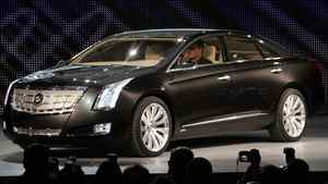 General Motors introduces the auto maker's Cadillac XTS Platinum Concept vehicle during press days of the North American International Auto show at Cobo Center in Detroit.
