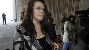 Tara McDonald, mother of murder victim Tori Stafford, arrives at court in London, Ont., as the first-degree murder trial for Michael Rafferty begins March 5, 2012.