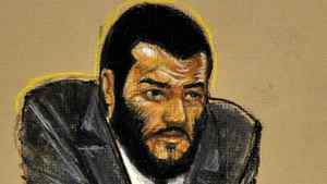 A courtroom sketch of Omar Khadr, who is in the sentencing phase of his military trial at Guantanamo Bay, Cuba.